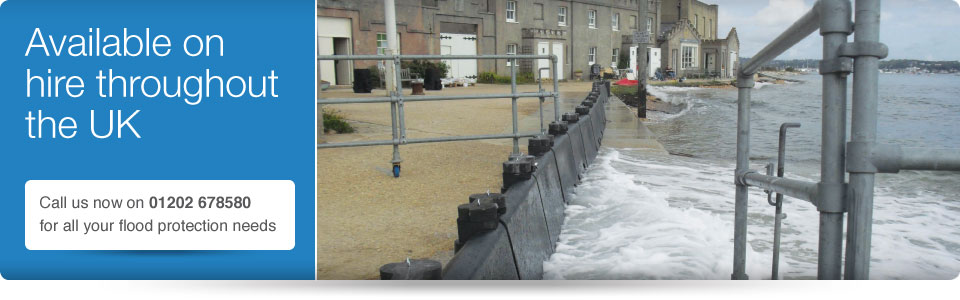 hire flood prevention barriers