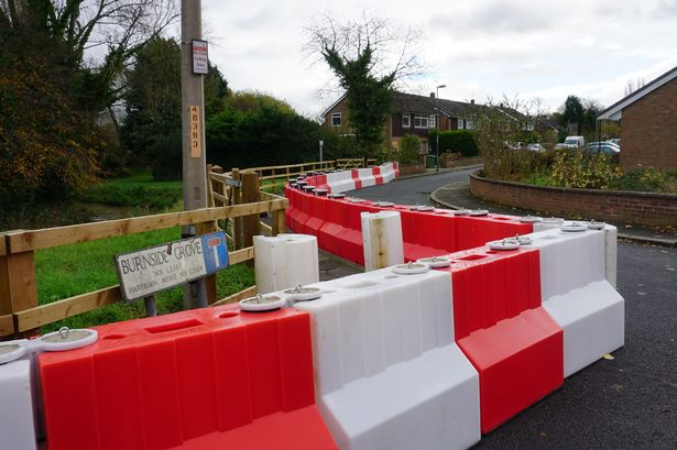 flood barriers in place