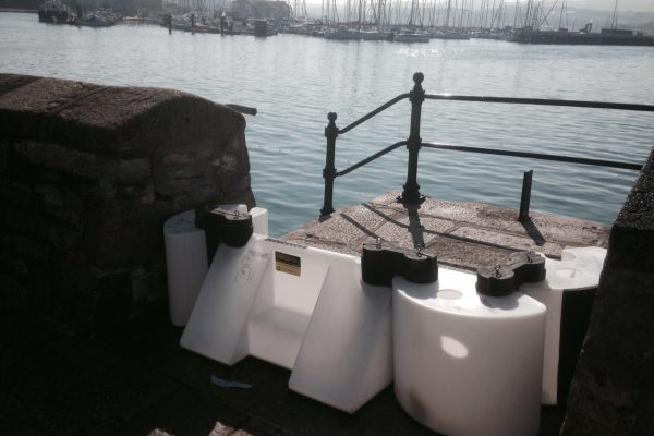 Plymouth using the Floodstop flood defence barrier